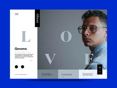 NML 03 – 03 color portraits design minimal interface homepage web ux ui