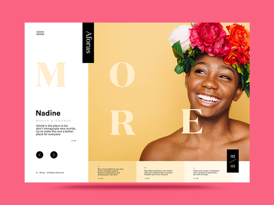 NML 02 – 03 web ux ui portraits minimal interface homepage design color