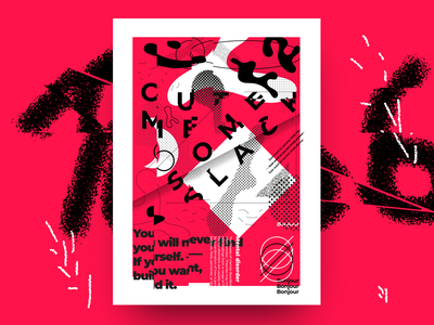 Cut Me Some Slack Poster dirty jokes ugly cut madness disease design graphic typography poster. abstract