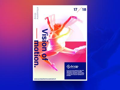 Vision of Motion - Poster Design swiss gradient motion dancer dance ballet poster modern simple