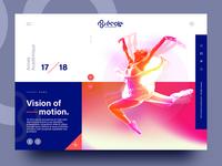 Ecole Art En Mouvement – Homepage design.