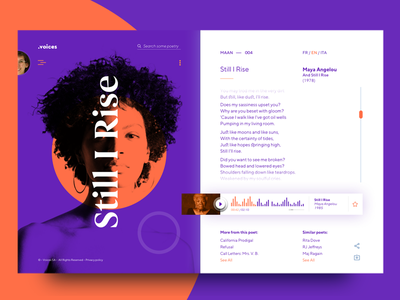•voices – poetry for every moment – 003 web ux ui poetry player modern interface clean app