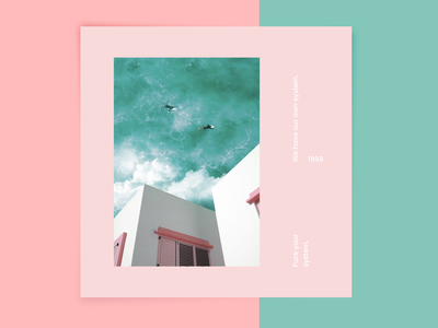 Summer Summer Summer! art easy post instagram poster clouds water ocean sky architecture pastels hipster photoshop photography illustration typogaphy cover minimal minimalism abstract