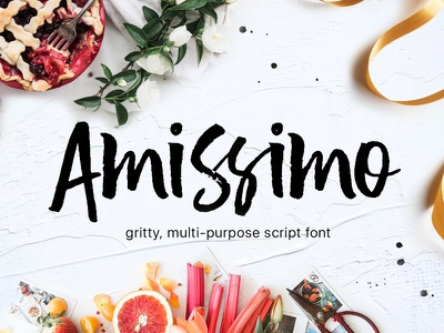 Amissimo Brush Font logo wedding script brush amissimo ttf otf multi-purpose font gritty font hand-brushed font script font font