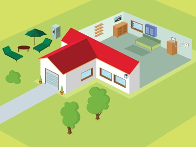 Isometric House Illustration