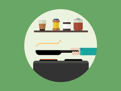 Pancake Flip editorial pancake pancake-day flip kitchen editorialillustration illustration infographics icons