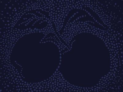 Panyolai Apple shotdrink points pointillistic palinka label design label illustration honey apple