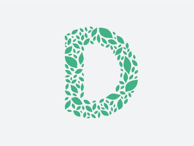 Letter D leafpattern pattern leaves letter d d letter