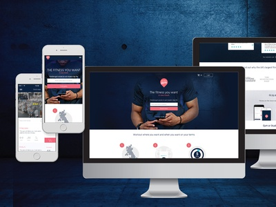 Pay As You Gym landing page branding user interface ui website homepage website design