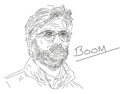 Klopp Sketch. drawing sketch ynwa liverpool lfc klopp