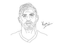 Sergio Aguero Sketch.