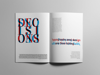 Typography Decisions. font colour graphic paper book layout design print typography type