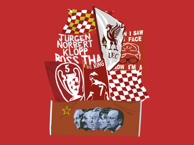 Anfield. graphics design art typography drawing illustration vector banner flag anfield liverpool lfc