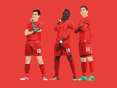 Deal With It. poster. print mane firmino coutinho red illustrator illustration drawing vector liverpool lfc