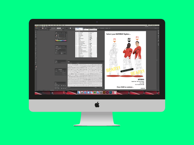 iMac Illustration. liverpool lfc print colour drawing adobe vector imac illustration