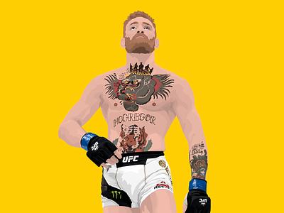 Conor McGregor mcgregor print colour drawing design illustration ireland vector mma ufc