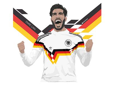 Emre Can - Italia 90. kit design soccer football world cup adidas drawing illustration vector germany