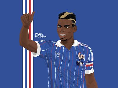 Paul Pogba - Espana 82. kit design illustration vector mufc soccer football adidas pogba
