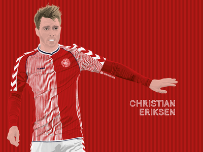 Eriksen - Mexico 86. red football football kit illustration vector kit concept denmark tottenham spurs eriksen