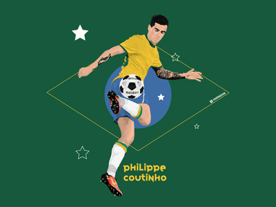 Coutinho - Mexico 70. drawing illustration brazil kit concept kit vector lfc liverpool coutinho