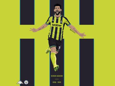 Sergio Aguero / Manchester City FC / 1998-99