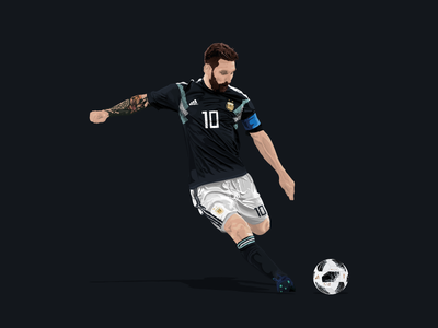 Lionel Messi / World Cup 2018 / Adidas design drawing illustration jersey kit vector soccer football argentina barcelona messi adidas
