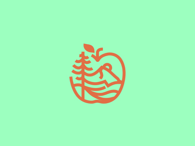 PNW Apples vector branding icon set pnw northwest pacific apple icon illustration