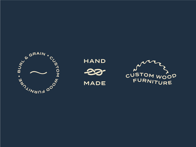 Secondary Marks badge carpentry woodworking hand made tertiary secondary branding suite design logo