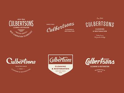 Culbertsons Lockups restoration carpet cleaning retro vintage badge identity hand lettering logo type branding typography