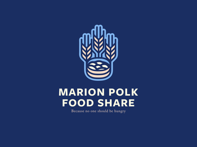 Unused Concept identity typography branding icon hunger food bank food share growing bountiful wheat illustration logo
