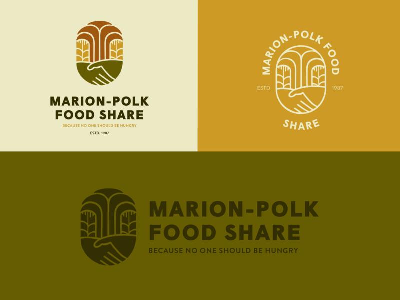 MPFS badge identity illustration nonprofit non profit community field wheat branding logo food bank food share