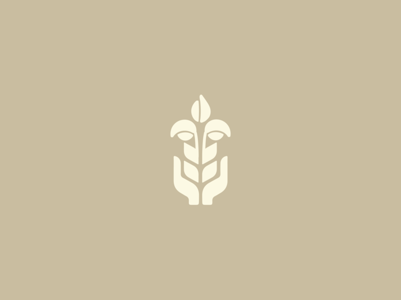 Wheat Hand illustration icon bountiful growth food food share wheat