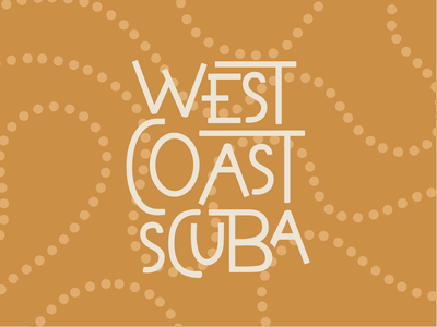 West Coast Scuba logo identity lettering typography type scuba diving scuba