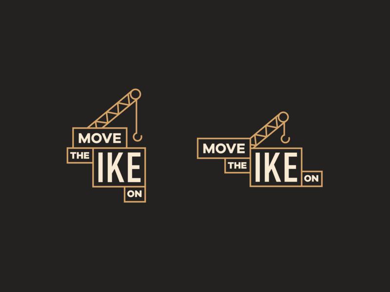 Move the IKE On crane non profit icon identity branding logo