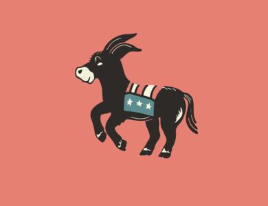 Party Animal election 2020 politics democracy illustration icon donkey primary debate democratic democrat
