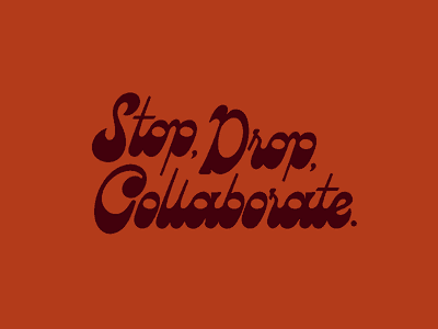 Collaborate groovy procreate 70s typography type script funky hand lettering retro collaborate