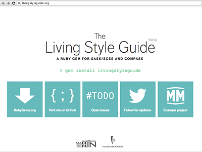 Livingstyleguide website
