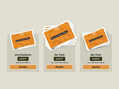Post card shop design berlin webdesign shop typography