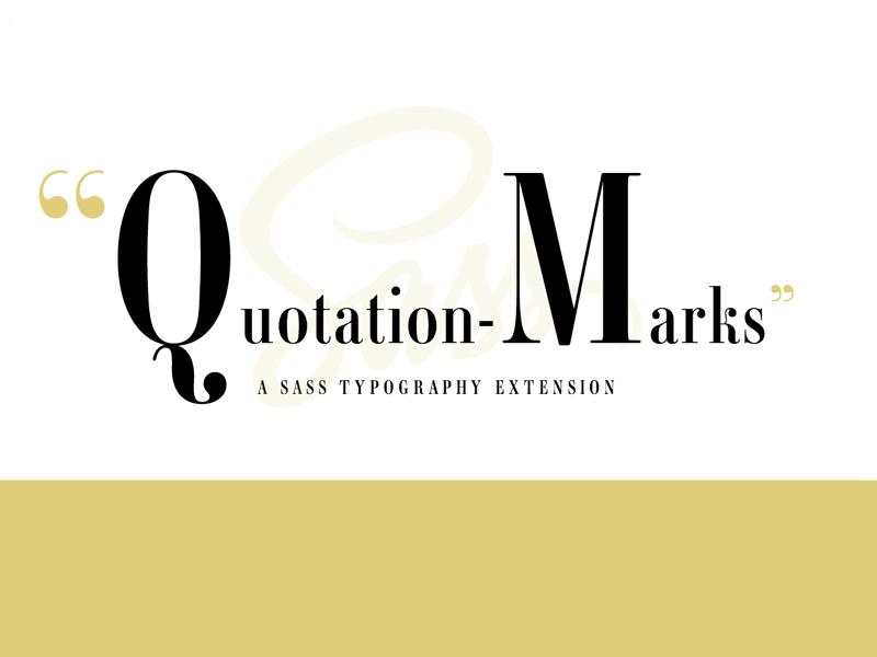 Quotation Marks 2 logo typography quotation marks