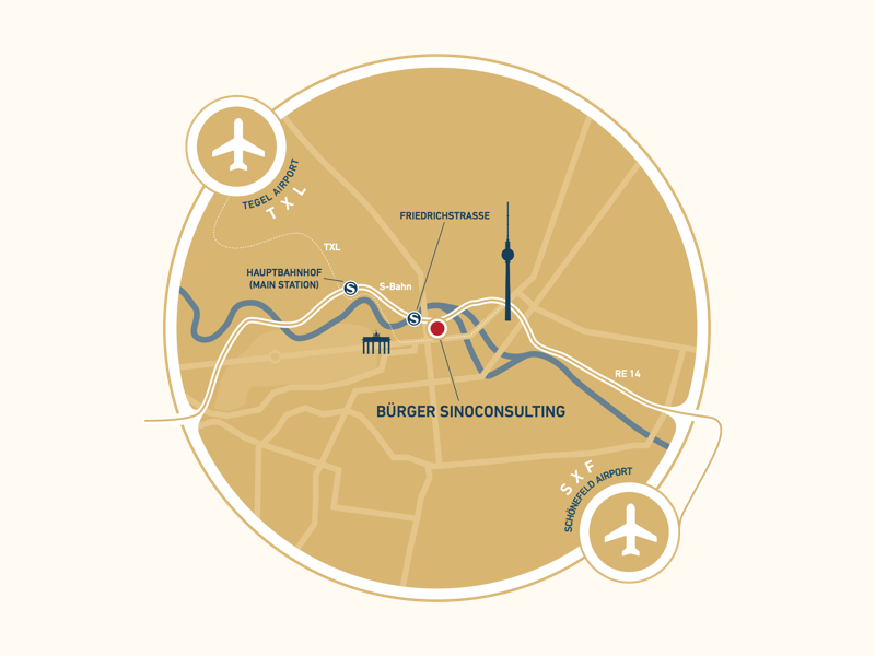 Directions for Bürger Sinoconsulting berlin directions infographic map