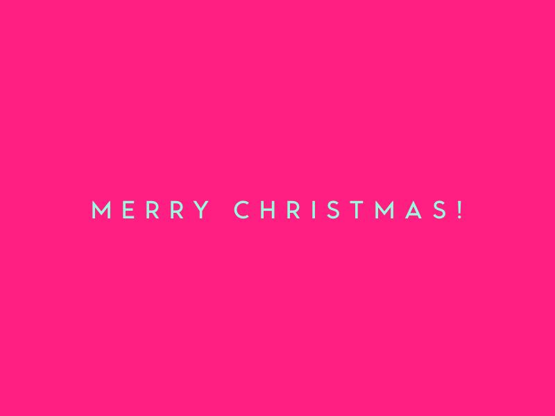 Merry Christmas! typography
