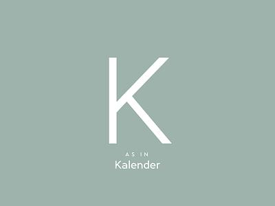 Typography Advent Calendar: K german adventskalender typographie type lettering typeface typeface design type design typography