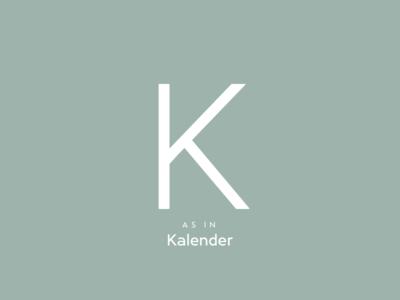 Typography Advent Calendar: K