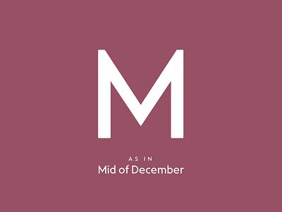Typography Advent Calendar: M type lettering typeface typeface design type design typography