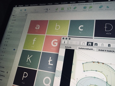 Behind the scenes: Typography Advent Calendar & the font unsed glyphs sketch type lettering typeface typeface design type design typography