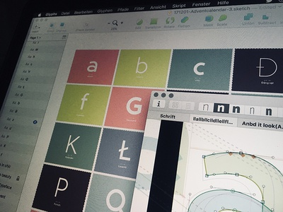 Behind the scenes: Typography Advent Calendar & the font unsed