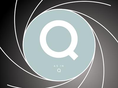 Q jamesbond q 007 james bond glyphs sketch type lettering typeface typeface design type design typography