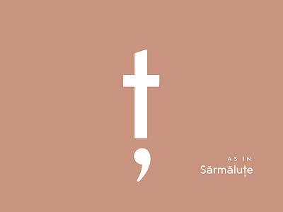Typography Advent Calendar: Ț romanian glyphs sketch type lettering typeface typeface design type design typography