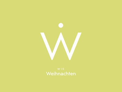 Typography Advent Calendar: Ẇ christmas weihnachten german lettering typeface typeface design type design typography