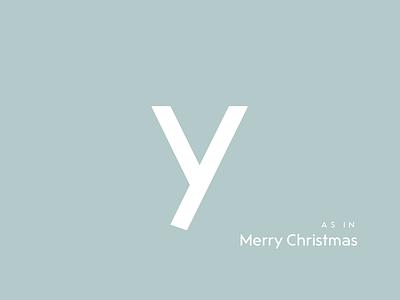 Typography Advent Calendar: Y xmas christmas weihnachten lettering typeface typeface design type design typography